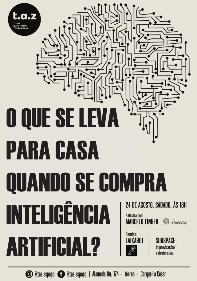 Palestra sobre Inteligência Artificial no espaço t.a.z